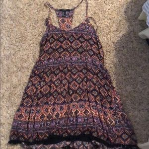 Forever 21 patterned dress with unique straps